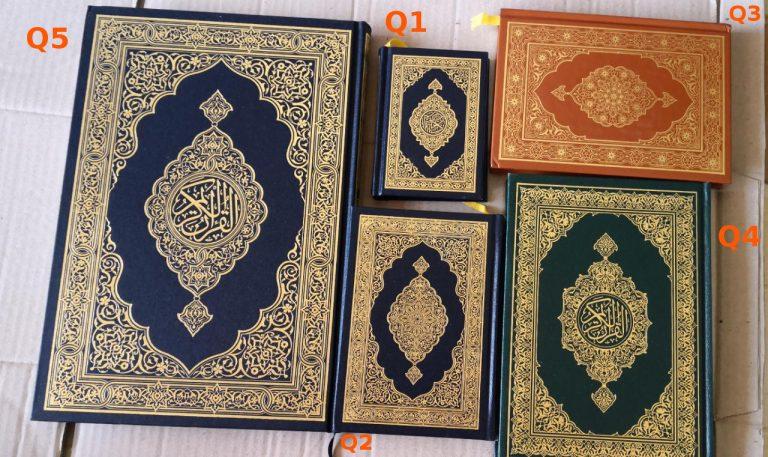 Perbandingan Ukuran Quran Madinah Q1 Q2 Q3 Q4 Q5
